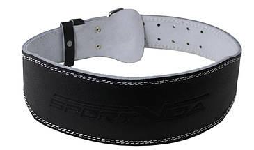 Пояс для тяжелой атлетики с экокожи SportVida SV-AG0078 (XL) Black, фото 3