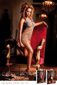 Пеньюар Leopard-Blue Dress Lace