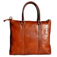 Мужской кожаный портфель 2121 cognac
