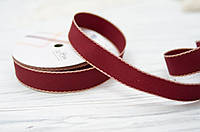 Лента 2,5*90 см см бордового цвета, фото 1
