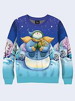 Мужской свитшот Зимний снеговик-ангел