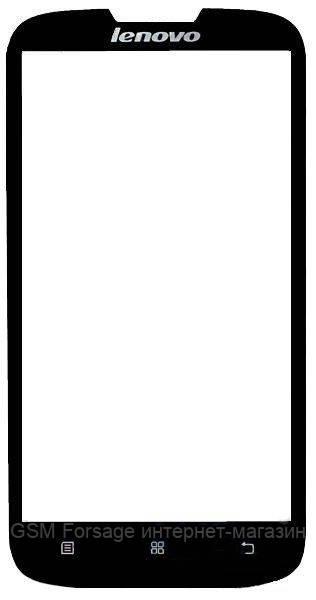 Стекло дисплея Lenovo A560 Black (для переклейки)