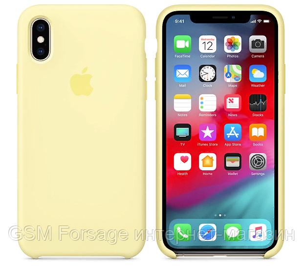 Чехол (Silicone Case) для iPhone X / iPhone XS Yellow