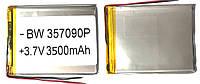 Аккумулятор универсальный 357090P 9 cm х 7 cm 3.7v 3500 mAh
