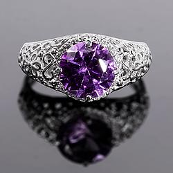 Серебряное кольцо с Александритом, 2316КЦА