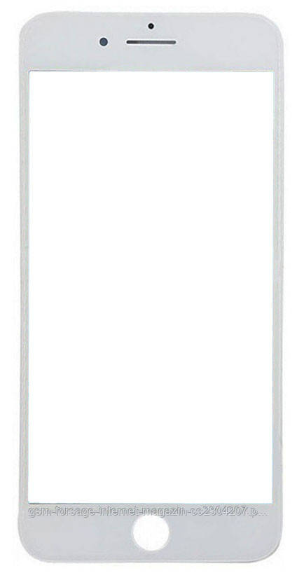 "Стекло дисплея (для переклейки) iPhone 8 Plus (5.5"") White complete with frame"