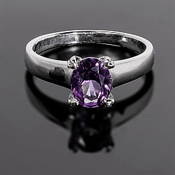Серебряное кольцо с Александритом, 2317КЦА