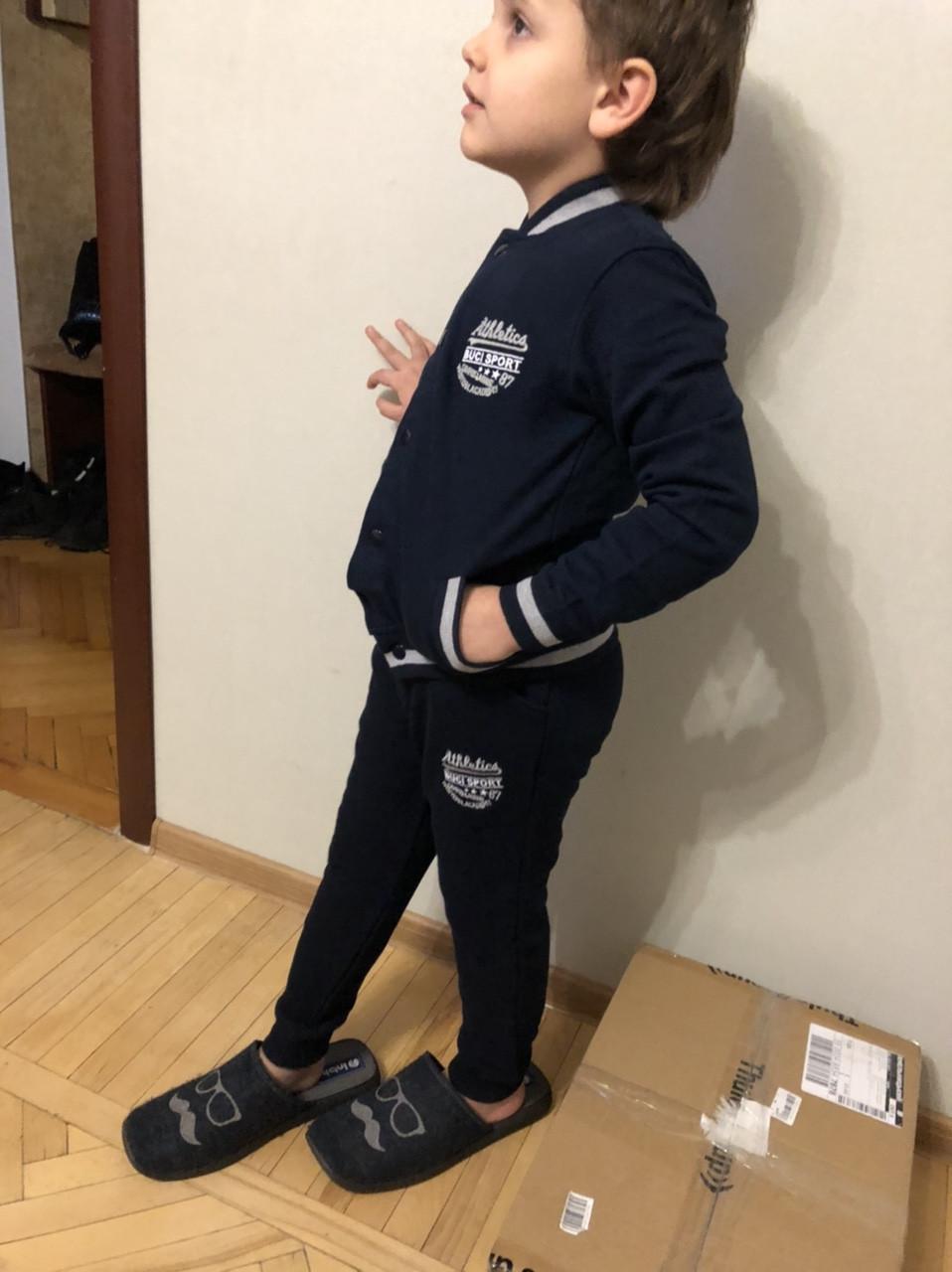 Спортивный костюм турецкий на мальчиков 122, 134, 140 роста синий BUCI