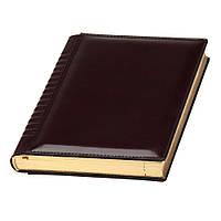 Ежедневник А5 Йорк Топ датированный, кремовый блок, бордовый