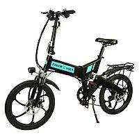 """Электровелосипед ZM TigerVolt 20, чёрный, колеса 20"""", 7-скоростной, моторколесо 350W, аккумулятор 36V 7,5Ah (270Wh)"""