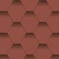 Битумная черепица «АКВАИЗОЛ» Мозаика Красный мак (красный + чёрная тень)