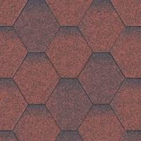 Битумная черепица «АКВАИЗОЛ» Мозаика Красная микс
