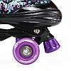 Роликовые коньки Nils Extreme NQ4411A Size 34-37 Black/Purple, фото 6