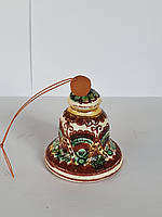 Сувенир колокольчик Hand Made Косовская керамика, ручная роспись, недорогой подарок в дом, 6 х 6 см