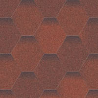 Битумная черепица «АКВАИЗОЛ» Мозаика Огненная лава (красный + коричневый)
