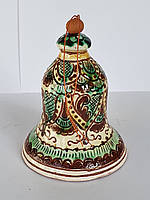 Сувенир колокольчик Hand Made Косовская керамика, ручная роспись, недорогой подарок в дом, 8 х 10 см,
