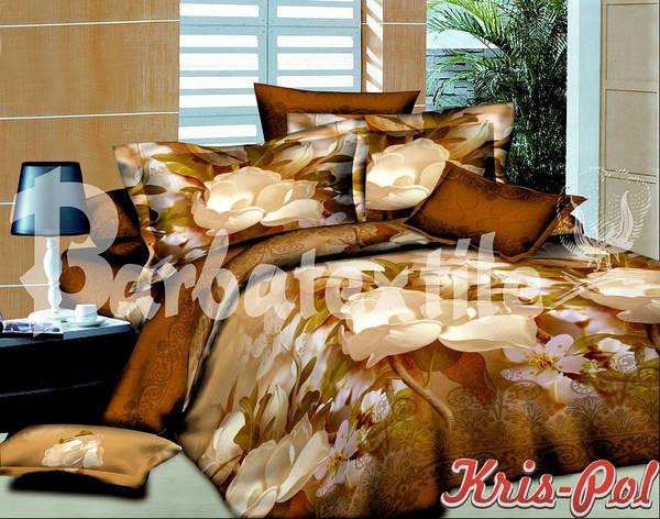 Комплект постельного белья евро 200*220 хлопок  (4315) TM KRISPOL Украина, фото 2