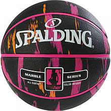 Мяч баскетбольный Spalding NBA Marble 4Her Outdoor Black/Pink/Orange Size 6