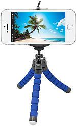 Гибкий штатив для телефона Octopus 230 mm - Blue