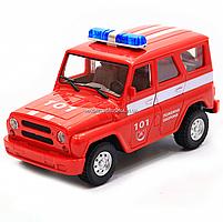 Машинка игрушечная автопром «Пожарная охрана» (свет, звук, пластик), 18х7х10 см (7659-5), фото 2