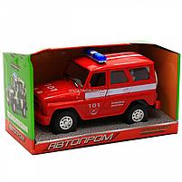 Машинка игрушечная автопром «Пожарная охрана» (свет, звук, пластик), 18х7х10 см (7659-5), фото 3
