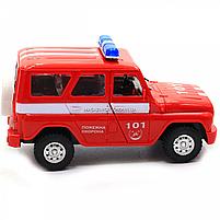 Машинка игрушечная автопром «Пожарная охрана» (свет, звук, пластик), 18х7х10 см (7659-5), фото 4