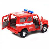 Машинка игрушечная автопром «Пожарная охрана» (свет, звук, пластик), 18х7х10 см (7659-5), фото 5
