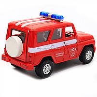 Машинка игрушечная автопром «Пожарная охрана» (свет, звук, пластик), 18х7х10 см (7659-5), фото 7