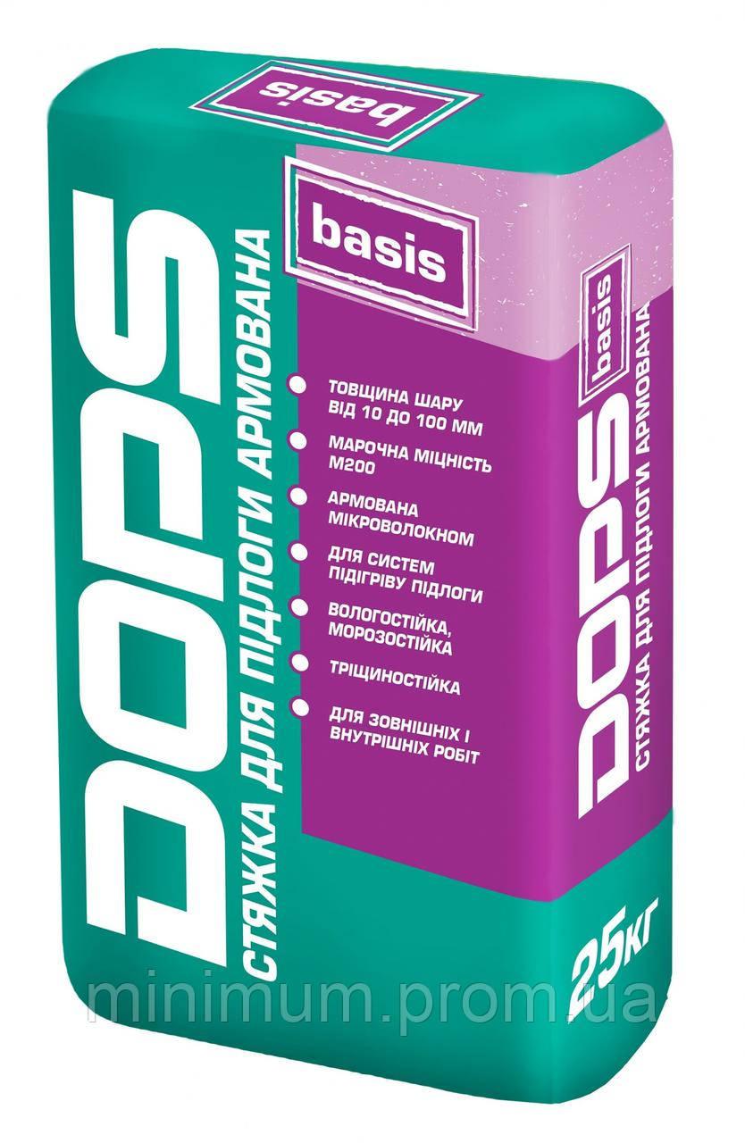 Поліпласт DOPS Basis стяжка для підлоги армована, 25 кг