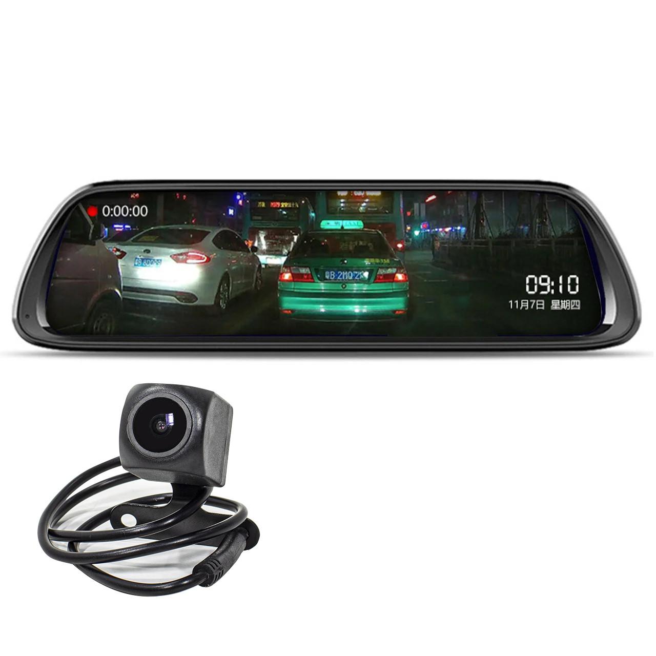 "Зеркало видеорегистратор 10"" Lesko Car K62 для авто ночная съемка камера заднего вида 1080P функция WDR"