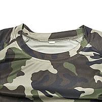 Тактический гольф с длинным рукавом Lesko A659 Camouflage XL мужская водолазка для полиции спецподразделений, фото 3