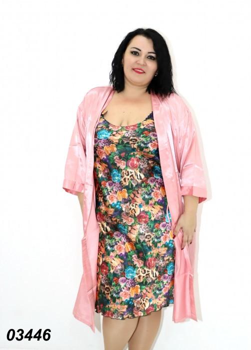 Комплект женский шелковый большого размера 52-54,54-56
