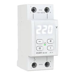 Реле контроля напряжения  с тепловой защитой D2-40 ZUBR