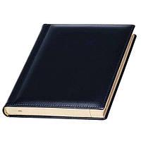 Ежедневник А5 Кожаный датированный, кремовый блок, черный