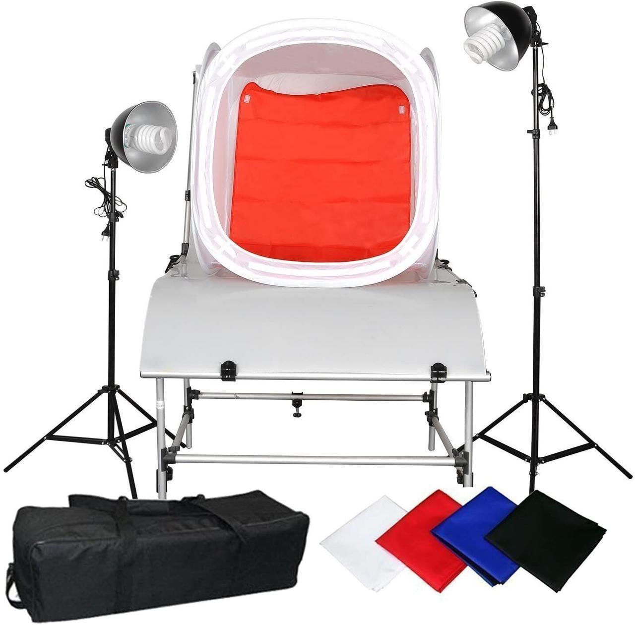 Набор для предметной съемки Cube Box с лампами и штативами CA9048