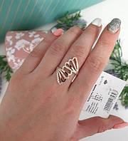 Кольцо *Вояж* серебряное с золотом 925 пробы