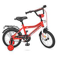 """Двухколесный велосипед детский 14"""", сталь, звонок, доп.колеса 3-6 лет"""
