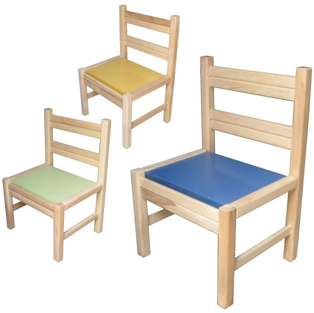 Стульчик детский для дет.сада-неразборной, ольха