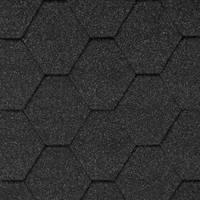 Битумная черепица «АКВАИЗОЛ» Мозаика Гавайский песок (чёрный+ тёмно-серый)