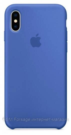 Чехол (Silicone Case) для iPhone XS Max Blue