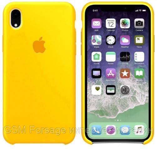 Чехол (Silicone Case) для iPhone XR Yellow