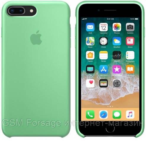 Чехол (Silicone Case) для iPhone 7 Plus / iPhone 8 Plus Green