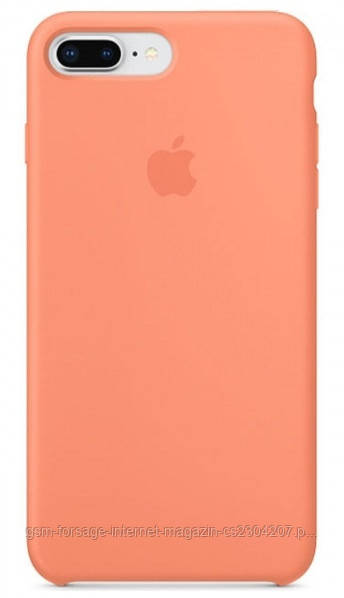 Чехол (Silicone Case) для iPhone 6 plus / iPhone 6S Plus Light Orange