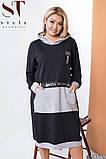 Платье трикотажное спортивное с капюшоном, 2 расцветки р-р 50-52,54-56,58-60 Код 571Е, фото 4