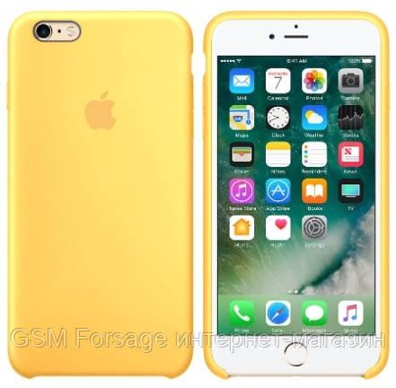 Чехол (Silicone Case) для iPhone 6 plus / iPhone 6S Plus Yellow