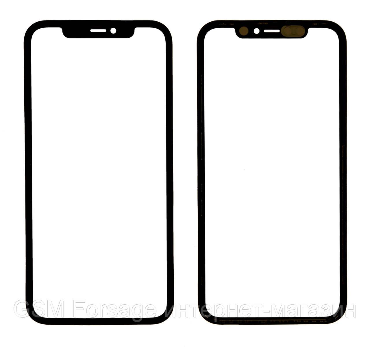 """Стекло дисплея iPhone 11 (6.1"""") для переклейки с рамкой и OCA Black"""