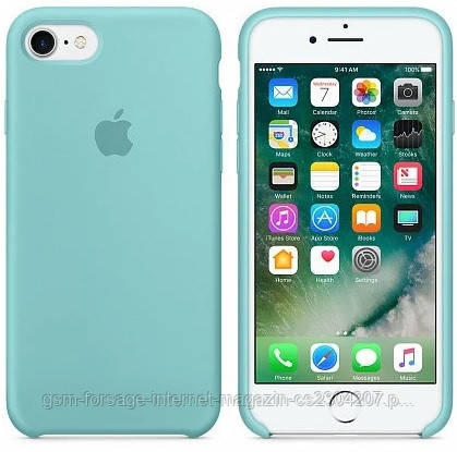 Чехол (Silicone Case) для iPhone 7 / iPhone 8 Original Sea Blue