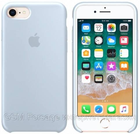 Чехол (Silicone Case) для iPhone 7 / iPhone 8 Original Mist Blue