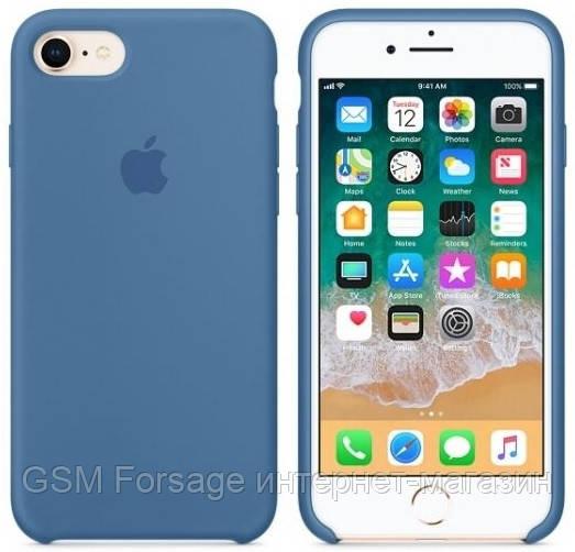 Чехол (Silicone Case) для iPhone 7 / iPhone 8 Original Demin Blue