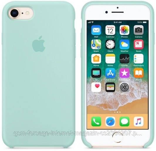 Чехол (Silicone Case) для iPhone 7 / iPhone 8 Original Marine Green